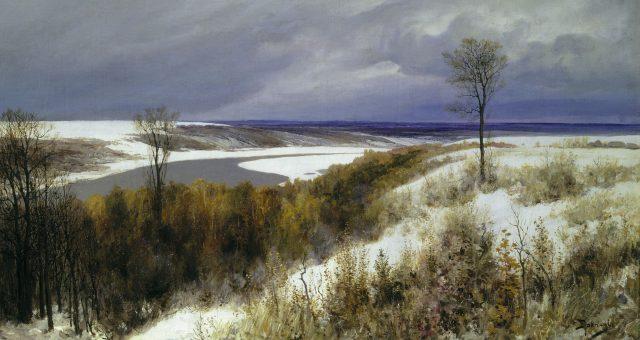 Ранний снег, художник Василий Дмитриевич Поленов