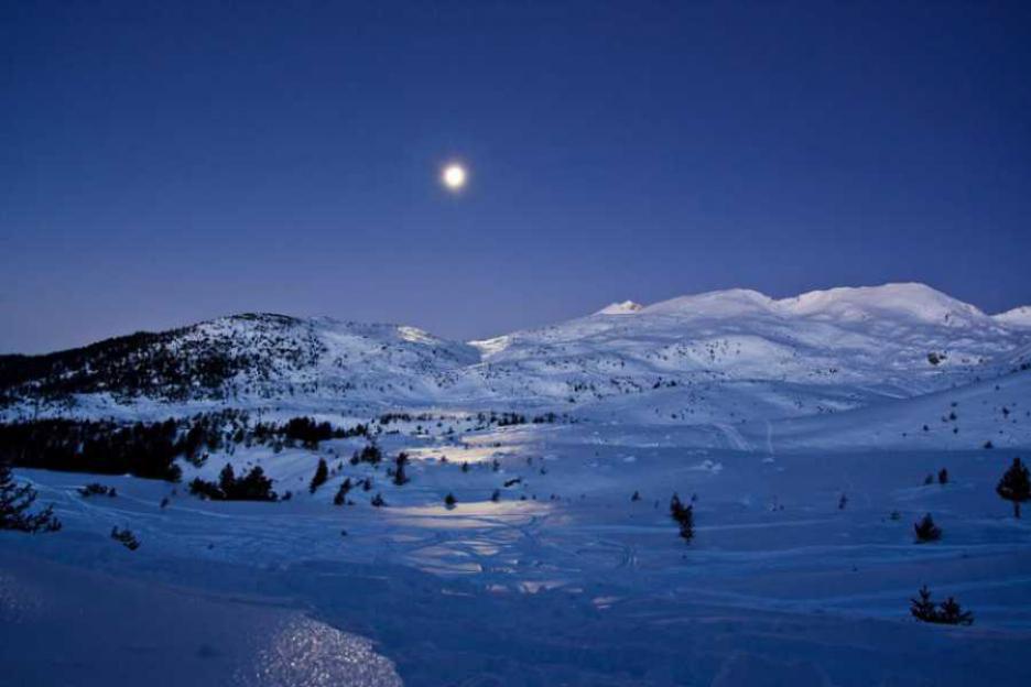 Снежна нощ в Пирин